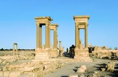 Ciudad antigua del Palmyra Imagen de archivo libre de regalías