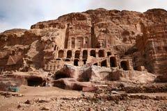Ciudad antigua del Petra Fotos de archivo libres de regalías