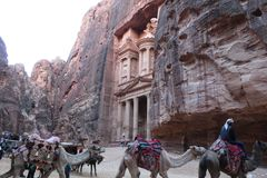 Ciudad antigua del Petra fotos de archivo