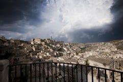 Ciudad antigua en Matera Italia Imagen de archivo libre de regalías