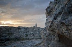 Ciudad antigua en Matera Italia Imagen de archivo