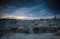 Ciudad antigua en Matera Italia Fotos de archivo