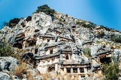 Ciudad antigua en Myra Demre Turkey Imagen de archivo libre de regalías