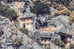 Ciudad antigua en Myra Demre Turkey Fotografía de archivo