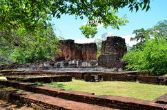 Ciudad antigua en Polonnaruwa, Srí Lanka fotografía de archivo libre de regalías