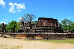 Ciudad antigua en Polonnaruwa, Srí Lanka imagen de archivo libre de regalías