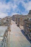 Ciudad antigua griega en el islnad de Delos Fotografía de archivo libre de regalías
