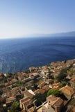 Ciudad antigua hermosa Monemvasia, Grecia Fotos de archivo