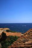 Ciudad antigua hermosa Monemvasia, Grecia Foto de archivo