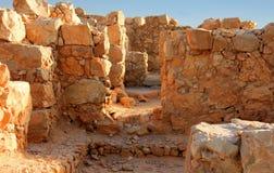 Ciudad antigua Masada en Israel Imágenes de archivo libres de regalías