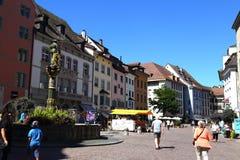 Ciudad antigua Schaffhausen, Suiza Ciudad vieja Imagenes de archivo