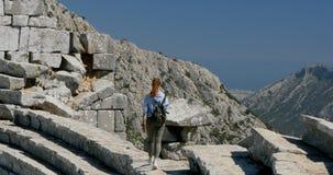 Ciudad antigua Thermessos cerca de Antalya en Turquía almacen de video