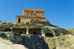 Ciudad antigua Uplistsikhe, iglesia vieja de la cueva de la región de Georgia Caucasian Fotos de archivo libres de regalías