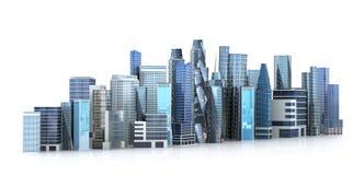 Ciudad arquitectónica del edificio en la visión panorámica ilustración del vector