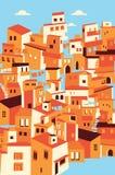 Ciudad asiática determinada de la casa Imágenes de archivo libres de regalías