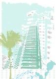 Ciudad asoleada Grunge Imagen de archivo