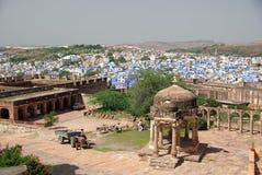 Ciudad azul de Jodhpur, Rajasthán Imagen de archivo libre de regalías