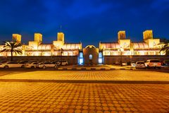 Ciudad azul del mercado central, de Sharja de Souk en United Arab Emirates o UAE imagen de archivo
