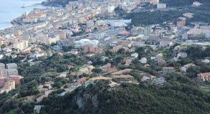 Ciudad Bastia de Córcega del paisaje fotos de archivo libres de regalías