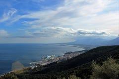 Ciudad Bastia de Córcega del paisaje imágenes de archivo libres de regalías