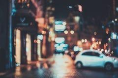 Ciudad borrosa en la noche Bokeh Imágenes de archivo libres de regalías