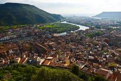 Ciudad Bosa, Cerdeña, Italia Fotografía de archivo libre de regalías
