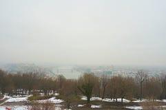 Ciudad Budapest del od del panorama Imágenes de archivo libres de regalías