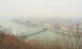 Ciudad Budapest del od del panorama Foto de archivo libre de regalías