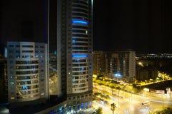 Ciudad builing por noche Imagen de archivo