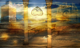 Ciudad celeste Imagen de archivo libre de regalías