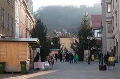 Ciudad Celje en tiempo de la Navidad Fotografía de archivo libre de regalías