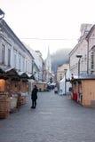 Ciudad Celje en tiempo de la Navidad Fotos de archivo