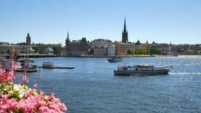 Ciudad central de Estocolmo metrajes