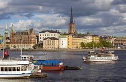 Ciudad central de Estocolmo Foto de archivo