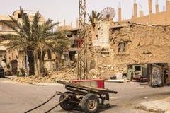 Ciudad cerca del Palmyra en Siria Fotos de archivo libres de regalías