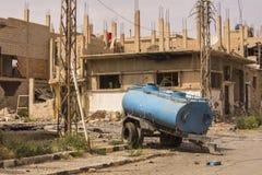 Ciudad cerca del Palmyra en Siria Imagen de archivo