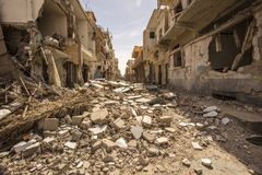 Ciudad cerca del Palmyra en Siria Fotografía de archivo libre de regalías