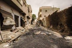 Ciudad cerca del Palmyra en Siria Imagen de archivo libre de regalías