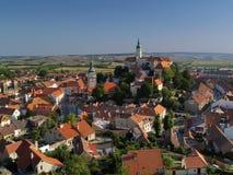 Ciudad checa Mikulov imagenes de archivo