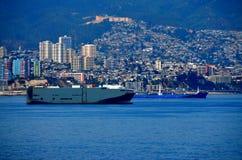 Ciudad Chile - puerto de ValparaÃso Fotos de archivo