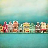 Ciudad colorida Imagenes de archivo