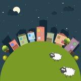 Ciudad colorida, casas para la venta/el alquiler Casas de las propiedades inmobiliarias?, planos para la venta o para el alquiler Fotos de archivo