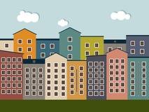 Ciudad colorida Concepto de Real Estate, casas para la venta/el alquiler Fotos de archivo