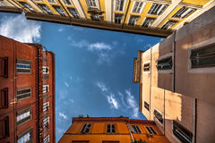 Ciudad colorida de Itlaian Fotos de archivo libres de regalías