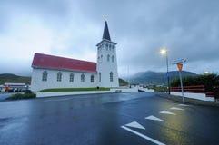 Ciudad colorida de Reykjavik foto de archivo