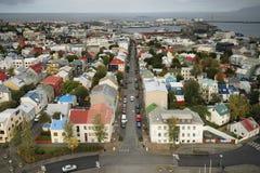 Ciudad colorida de Reykjavik Fotos de archivo libres de regalías