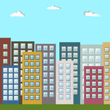 Ciudad colorida moderna, apartamentos para la venta/el alquiler, Real Estate Fotografía de archivo