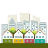 Ciudad colorida, Real Estate, concepto vivo sano Foto de archivo libre de regalías