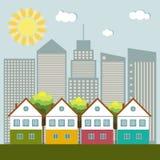 Ciudad colorida, Real Estate, concepto vivo sano Imagenes de archivo