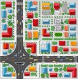 Ciudad con las casas ilustración del vector